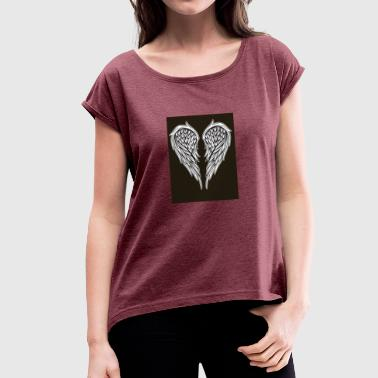 Angel Heart - Women's T-shirt with rolled up sleeves