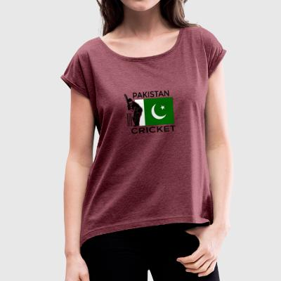 Pakistan Cricket - Women's T-shirt with rolled up sleeves