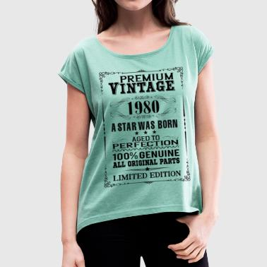 PREMIUM VINTAGE 1980 - Women's T-Shirt with rolled up sleeves