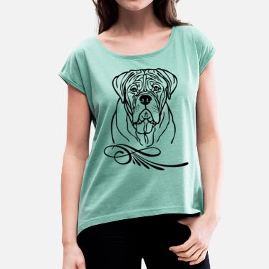 bordeauxdog ©  www.dog-power.nl - Women's T-Shirt with rolled up sleeves