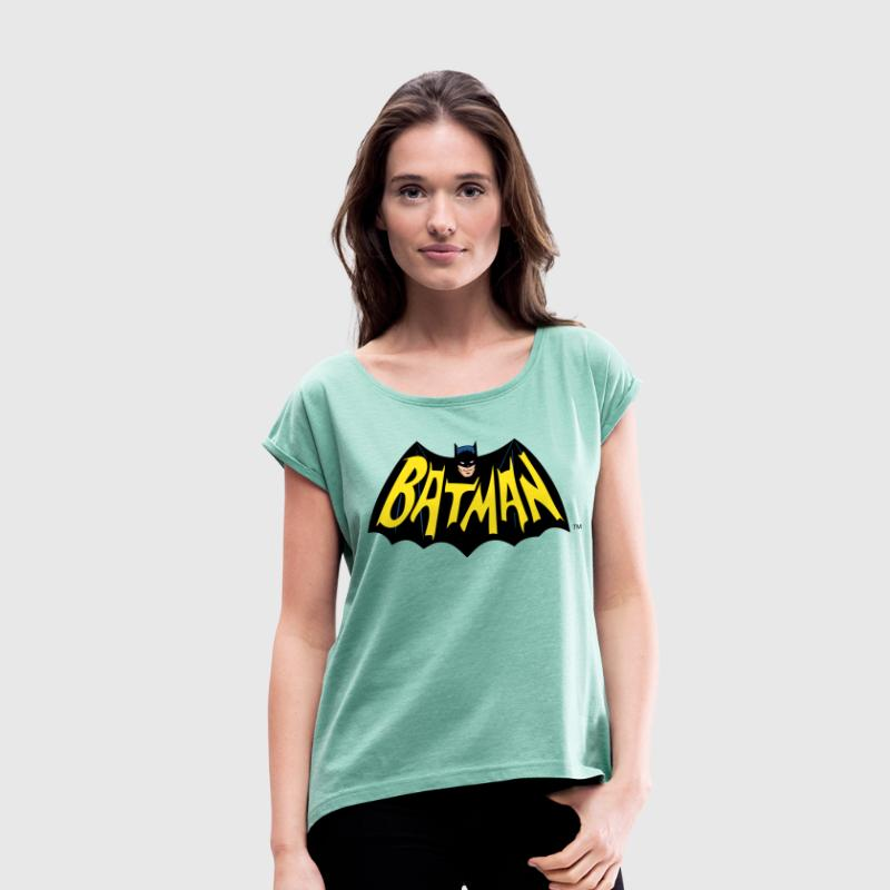 DC Comics Batman Wings Cool Logo Lettering - Dame T-shirt med rulleærmer