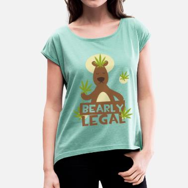 Legal Bearly Legal - T-shirt med upprullade ärmar dam