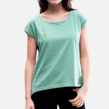 Midday giraffe - Women's T-Shirt with rolled up sleeves