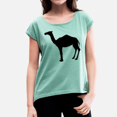 Dromedary dromedary - Women's T-Shirt with rolled up sleeves