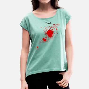 Bloodstain Bloodstain - Women's T-Shirt with rolled up sleeves