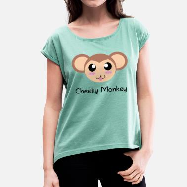 Cheeky Rascal Cheeky Monkey - Women's T-Shirt with rolled up sleeves