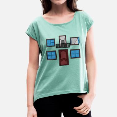 Affeto Window of the heart - Women's T-Shirt with rolled up sleeves