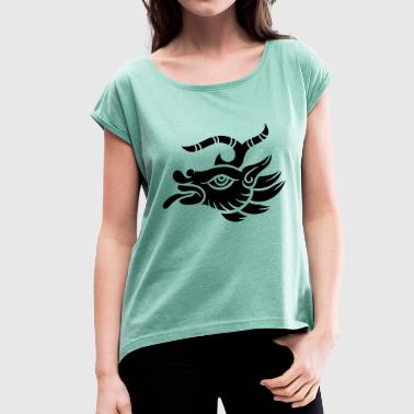 Scapegoat goat goat quetzalcoatl symbol inca maya - Women's T-Shirt with rolled up sleeves