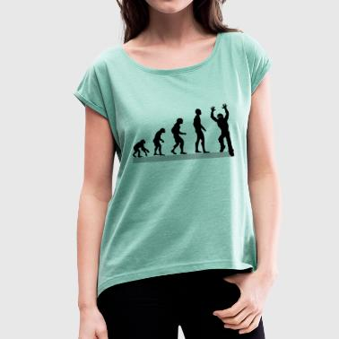 Zombie Evolution Evolution of Zombies / Apocalypse / Zombie - Women's T-Shirt with rolled up sleeves