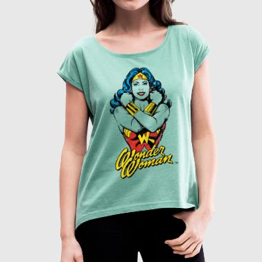 Wonder Woman Power teenager T-shirt - Vrouwen T-shirt met opgerolde mouwen