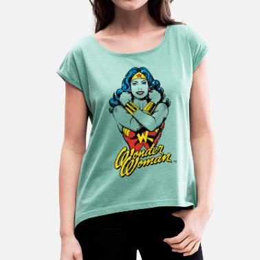 Wonder Woman Wonder Woman Power teenager T-shirt - Vrouwen T-shirt met opgerolde mouwen