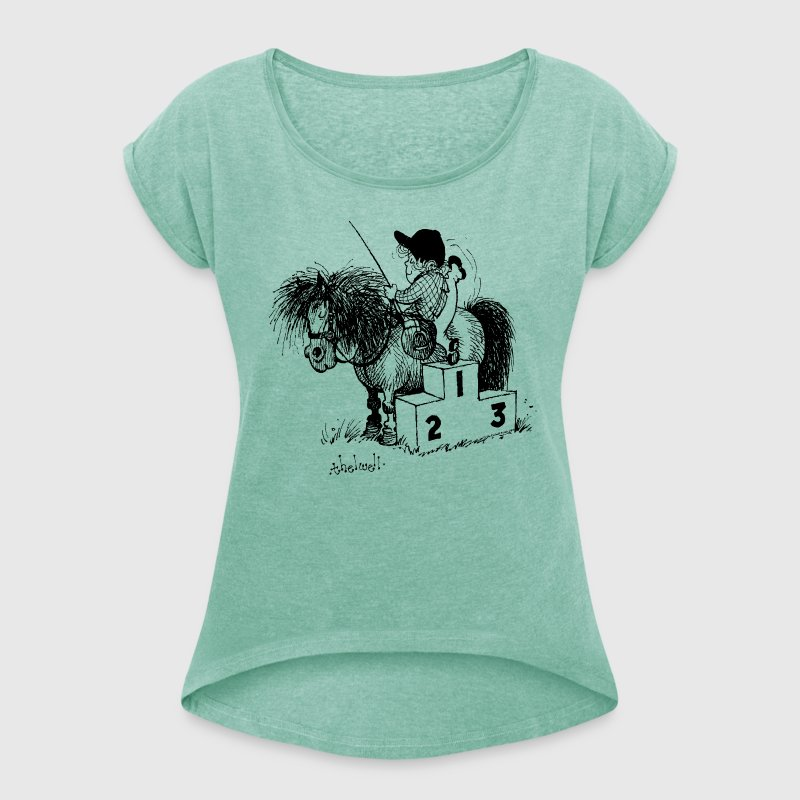 Thelwell - Winner's rosttrum - Women's T-shirt with rolled up sleeves