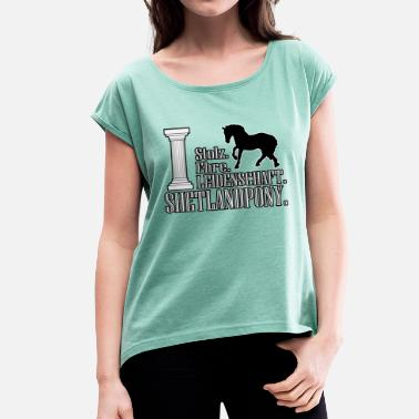 Shetland Pony Shetland pony - Women's T-Shirt with rolled up sleeves