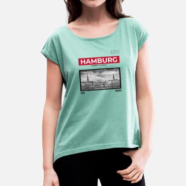 Alster Hamburg City - Women's T-Shirt with rolled up sleeves