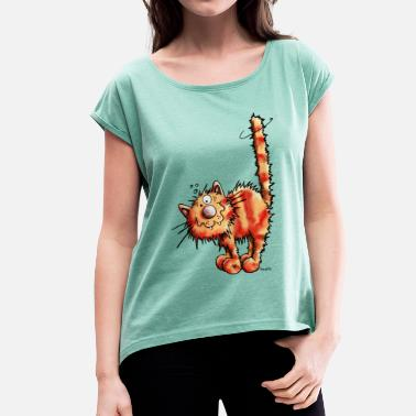 Red Cat Red Cat - Women's T-Shirt with rolled up sleeves