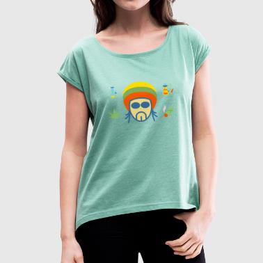 Rasta - Women's T-Shirt with rolled up sleeves