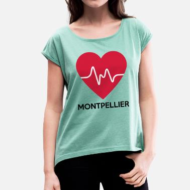 Montpellier heart Montpellier - Women's T-Shirt with rolled up sleeves