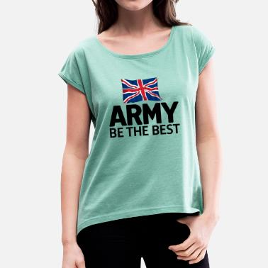 British Army Army Flag - Women's T-Shirt with rolled up sleeves
