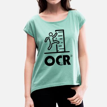 Obstacle Course OCR - obstacle course - Women's T-Shirt with rolled up sleeves