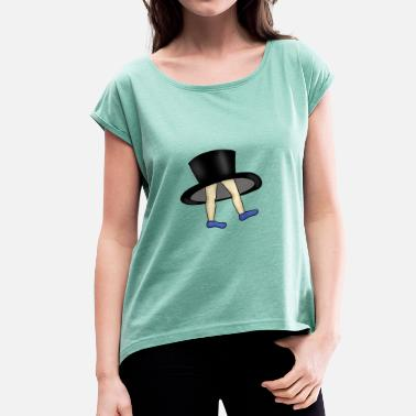 Cylinder cylinder - Women's T-Shirt with rolled up sleeves