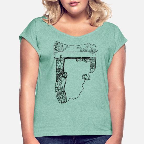 Babylon Karte.Karte Mittlerer Osten Assyrien Babylon 01 Png Frauen T Shirt Mit Gerollten ärmeln Minze Meliert