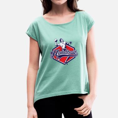a5298a64b7126 Handball Gardien Chemise de gardien de but de handball - T-shirt à manches  retroussées