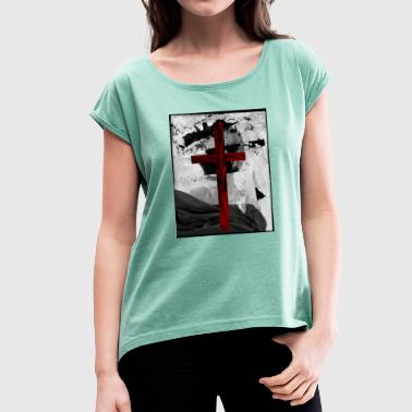 VELVET CROSS - Women's T-Shirt with rolled up sleeves