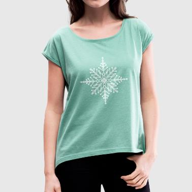 Snow crystal - Women's T-shirt with rolled up sleeves