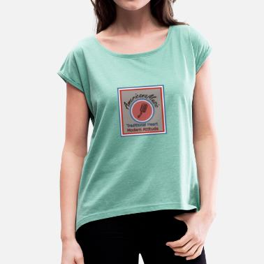 Americana Americana Music 3 - Women's T-Shirt with rolled up sleeves