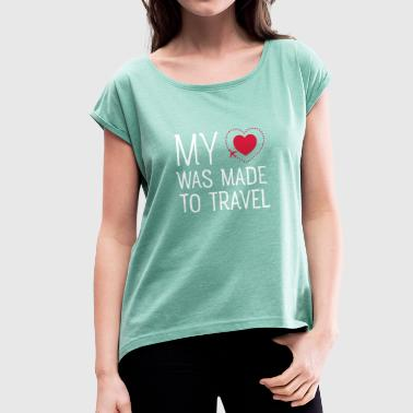 Travel - Women's T-shirt with rolled up sleeves
