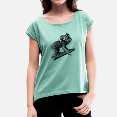 Offspring Koala with offspring - Women's T-Shirt with rolled up sleeves