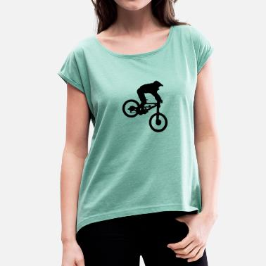 Downhillers Downhill - Women's T-Shirt with rolled up sleeves