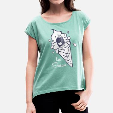 Ice Pop SmileyWorld 'Ice Scream' teenager t-shirt - Women's T-Shirt with rolled up sleeves