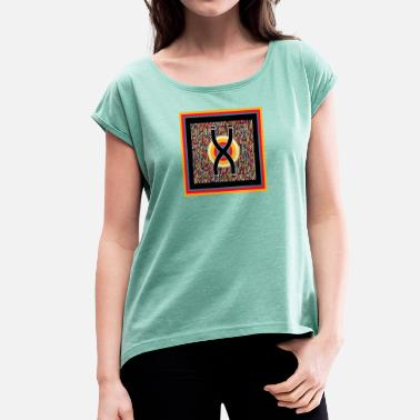 Wolli Wolly Art - Women's T-Shirt with rolled up sleeves