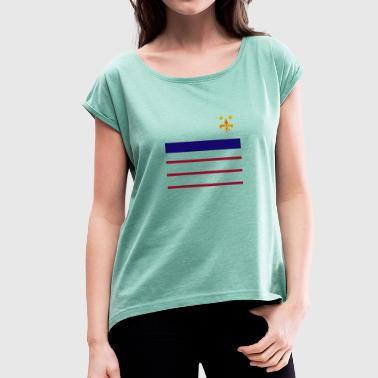 Globalization global - Women's T-Shirt with rolled up sleeves
