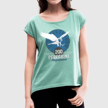 Animal Fact Animal Planet Birds Peregrine Facts - Women's T-Shirt with rolled up sleeves