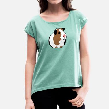Guinee Pig guinea pig guinea pig guinea pig - Women's T-Shirt with rolled up sleeves