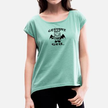 Bad Kitty bad kitty - Women's T-Shirt with rolled up sleeves