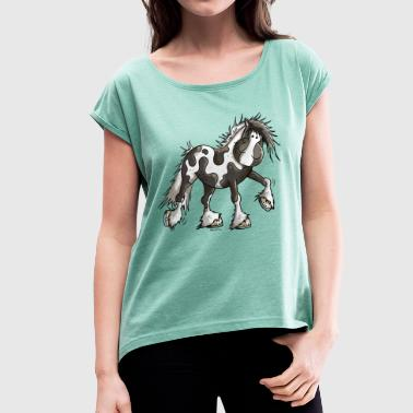 Taciana the Irish Tinker - Women's T-shirt with rolled up sleeves