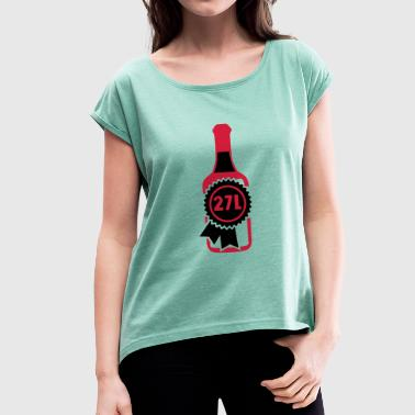 Primat 27 liters bottle size - Women's T-shirt with rolled up sleeves