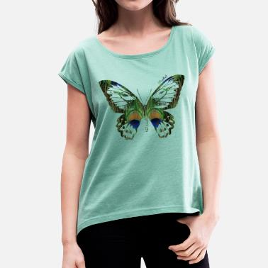 Ap16 Animal Planet Butterfly - Women's Rolled Sleeve T-Shirt