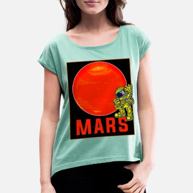 Red Sox The Red Mars - Women's Rolled Sleeve T-Shirt