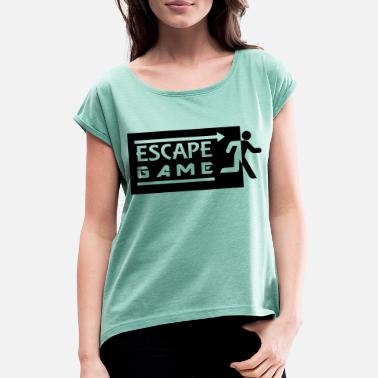 Escape Game Escape Game - T-shirt à manches retroussées Femme
