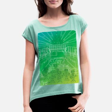 Creative City Em city - Women's T-Shirt with rolled up sleeves