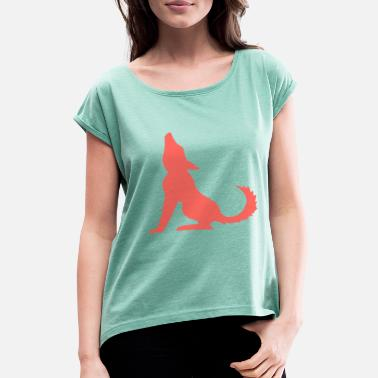 Coyote Wolf Coyote - Dame T-shirt med rulleærmer