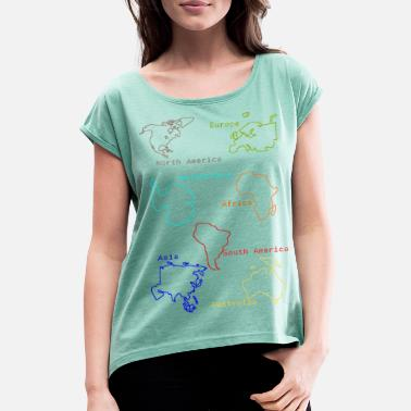 Continent Continents - Women's Rolled Sleeve T-Shirt