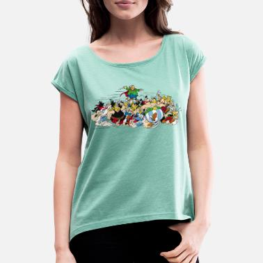 Attack Asterix Gauls Attack - Women's Rolled Sleeve T-Shirt