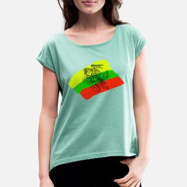 Lithuanians Lithuanian flag with rider - Women's Rolled Sleeve T-Shirt