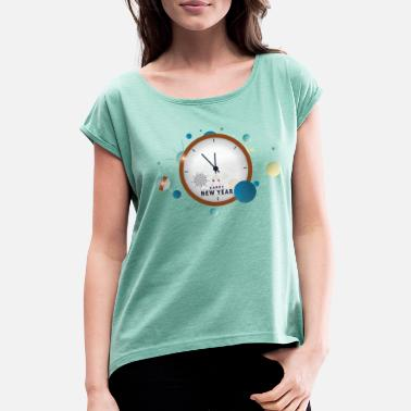 New Year New Year - New Year - Women's Rolled Sleeve T-Shirt