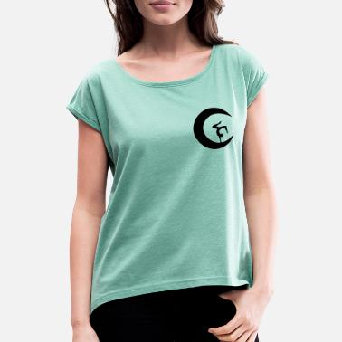 Sporty Handstand_Sport_Fitness_Yoga_Geschenk_Birthday - Women's Rolled Sleeve T-Shirt